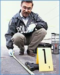 Measuring at crime scene